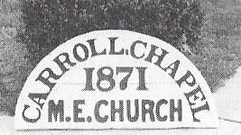 1871 Carroll's sign